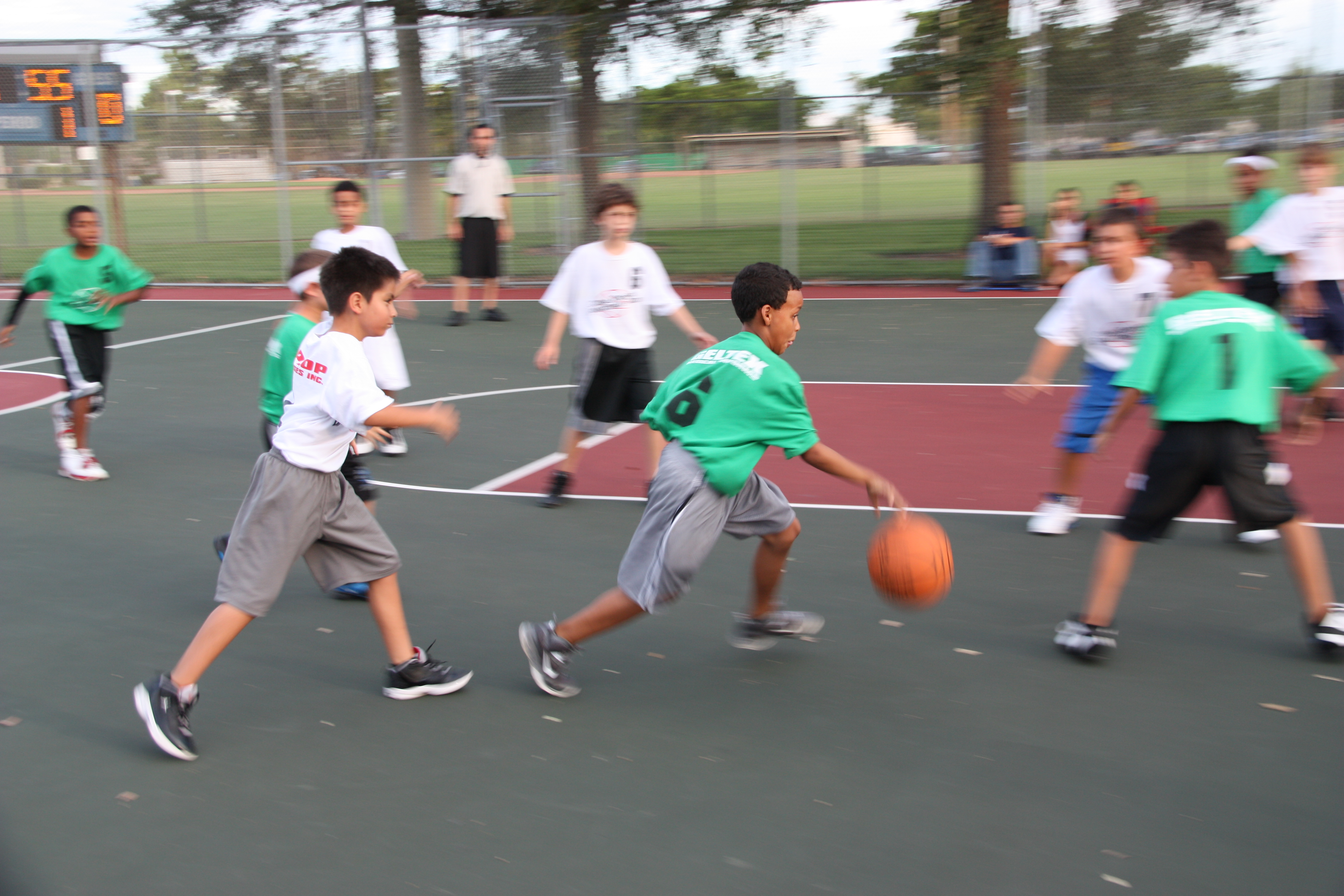 how to teach a child to play basketball