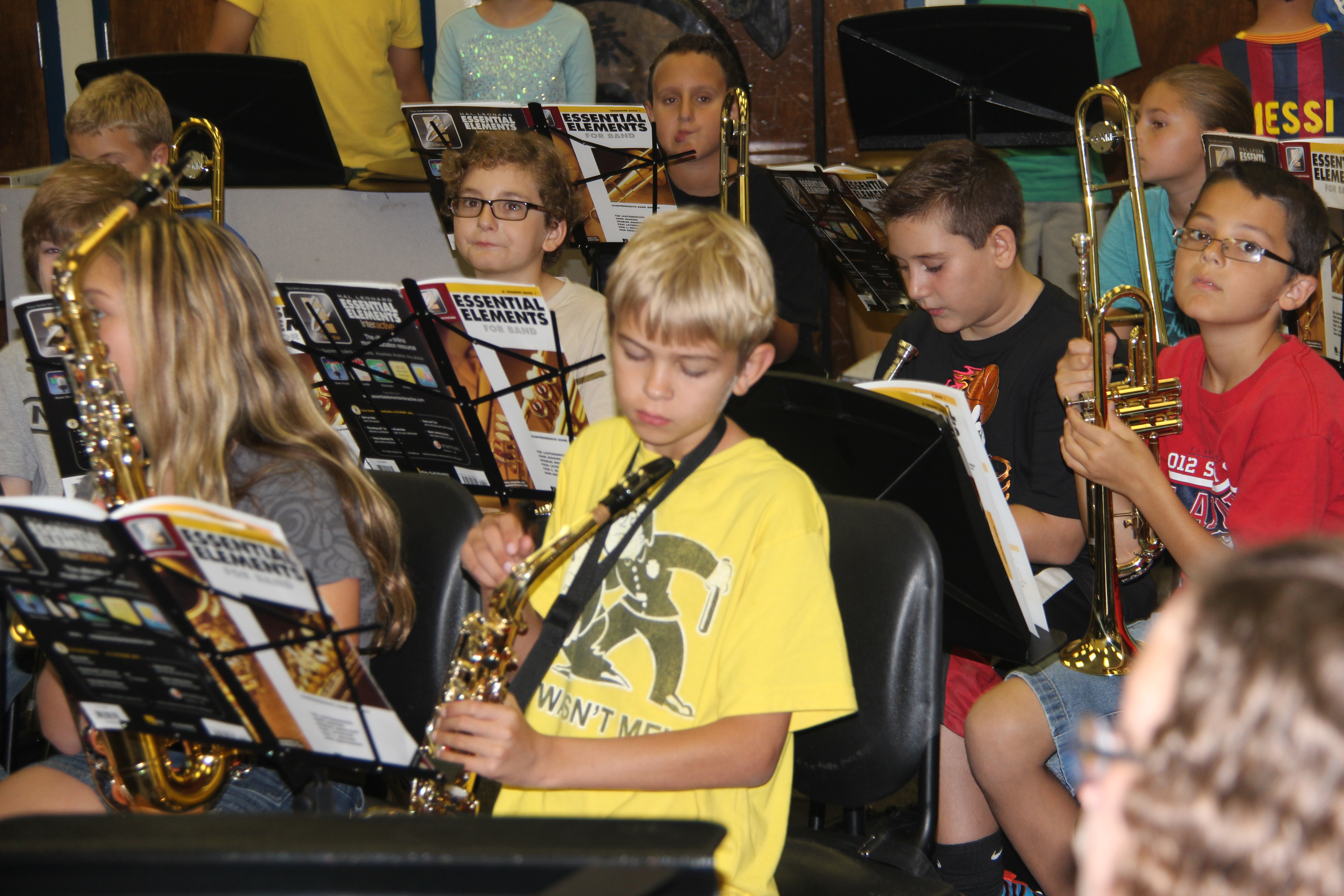 Ramblewood Middle School Band Camp has about 210 ...