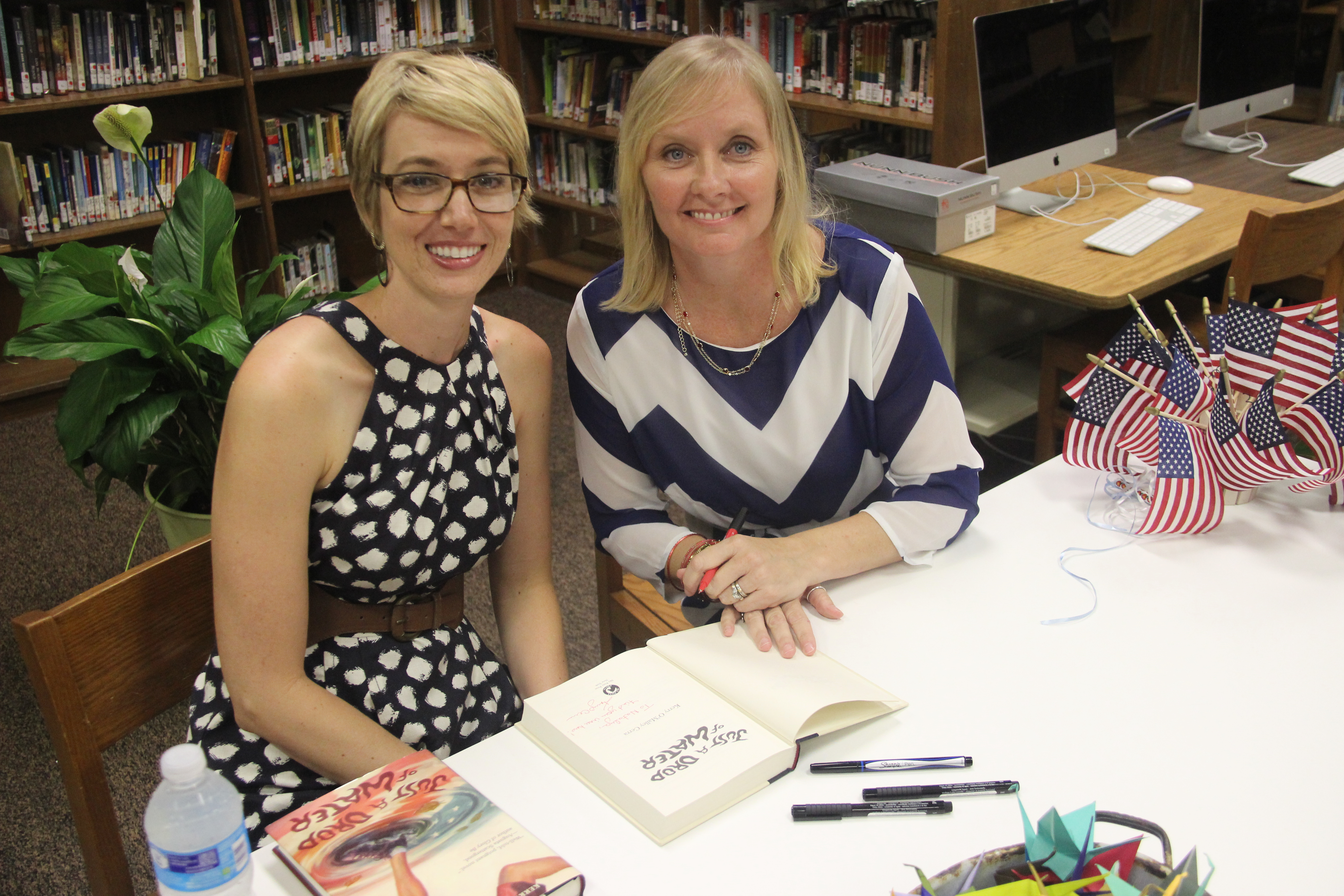 "Kerry O'Malley Cerra promoted her book, ""Just a Drop of Water"" during an  event at Ramblewood Middle School on September 13. The book is about the  9/11 ..."